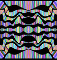 mirrors psychedelic colorful surreal doodle line vector image vector image