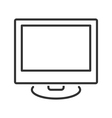 Monitor line icon vector image