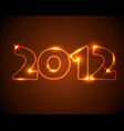 new year card 2012 vector image vector image