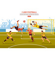 on soccer pitch background vector image