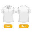 opposite words with front and back shirt vector image vector image