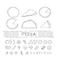 pizza setcollection with with various vector image