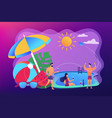 pool party concept vector image vector image