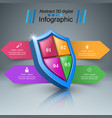protection business infographics marketing icon vector image