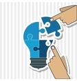 Puzzle bulb icon design vector image vector image