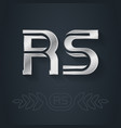 r and s initial silver logo rs - metallic 3d icon vector image vector image