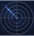 radar screen background military search system vector image