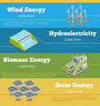 Renewable energy or eco infographics concept vector image vector image