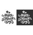 Saint Patrick lettering set vector image