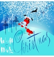 Santa Claus fall from sleigh with harness on the vector image vector image
