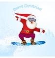 Santa snowboarding with Reindeer vector image vector image