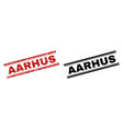 scratched textured and clean aarhus stamp prints vector image vector image