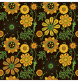 Seamless floral texture Copy that square to the vector image vector image