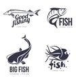 set logo sea fish vector image vector image