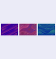 set modern colorful abstract gradient wavy vector image vector image