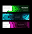 set of horizontal banners templates vector image