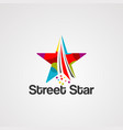 star street logo iconelementand template vector image