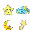 stars icon set cartoon style vector image