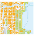 street map downtown chicago illinois vector image vector image
