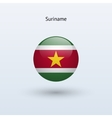 Suriname round flag vector image