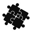 teamwork solution puzzle icon simple style vector image