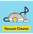 The flat icon of vacuum cleaner silhouette on the vector image