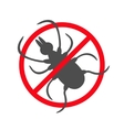 Tick insect silhouette Mite deer ticks icon vector image vector image