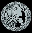 viking design flying black ravens vector image vector image