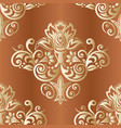 vintage floral background seamless pattern with vector image