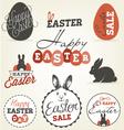 Easter Greeting Card Design Elements vector image