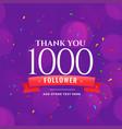 1000 followers social media celebration vector image