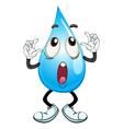 a water drop vector image vector image