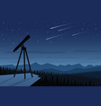 astronomy and beautiful night sky scene vector image