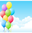 balloons in the sky vector image