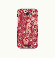 batik phonecase 12 vector image vector image