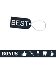 Best tag icon flat vector image vector image