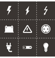 black electricity icon set vector image vector image