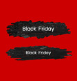 black friday design on paint brush vector image vector image