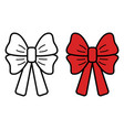bow icon on white background vector image vector image