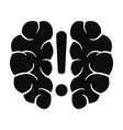 brain solution icon simple style vector image vector image