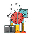 brain with book isolated icon vector image