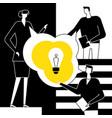 bright idea - flat design style vector image vector image