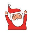 christmas happy santa claus arms up cheerful vector image vector image