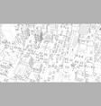 city streets intersection outline vector image vector image
