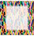 Colorful pencils with white transparent banner vector image
