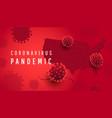 coronavirus pandemic horizontal background vector image vector image