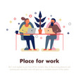 coworking people vector image vector image