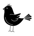 cute bird drawing icon vector image