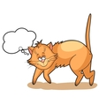 cute cartoon Cat dreams vector image vector image