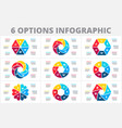 cycle elements for infographic template vector image